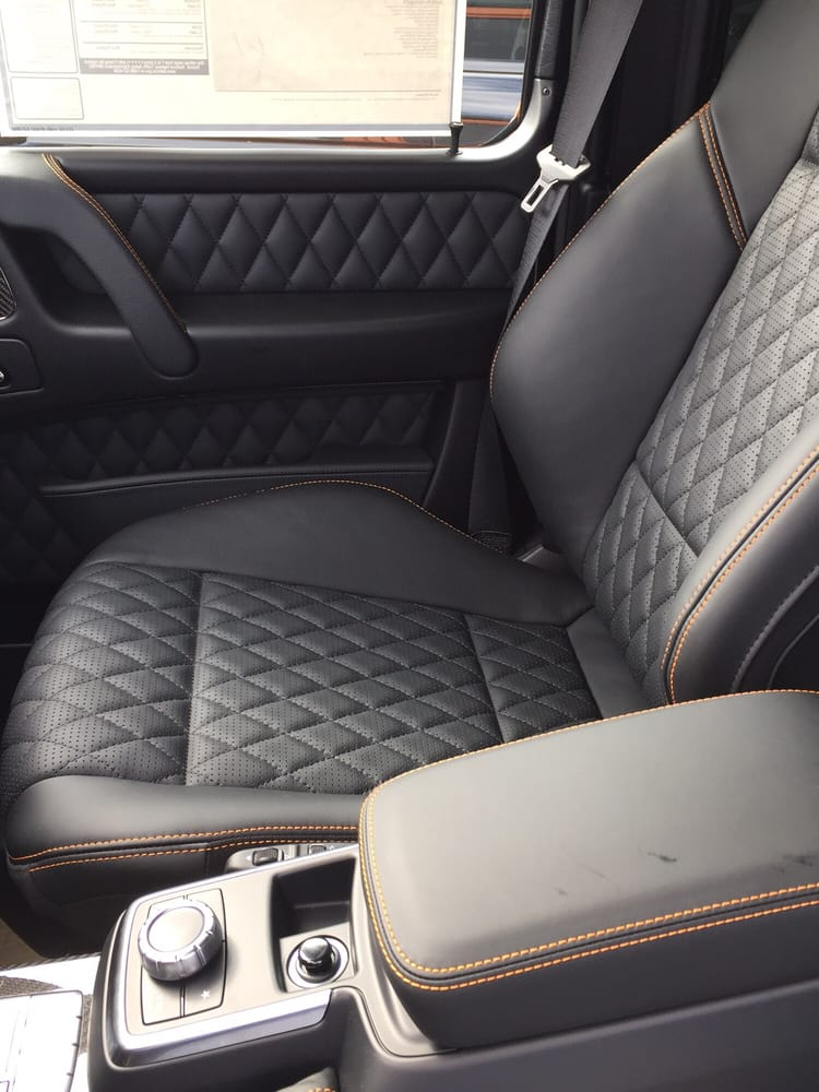 Interior of the special edition g63 yelp for Mercedes benz of brooklyn ny