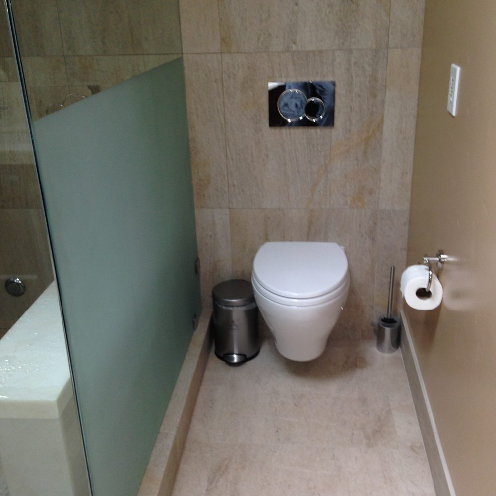 Palo Alto, Ca In wall toto carrier toilet in master with sand ...