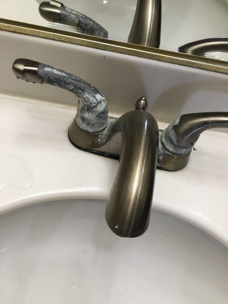 Casing broken on the faucet handles - Yelp