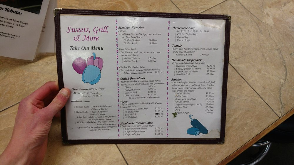 Sweets Grill & More: 1825 W Chew St, Allentown, PA