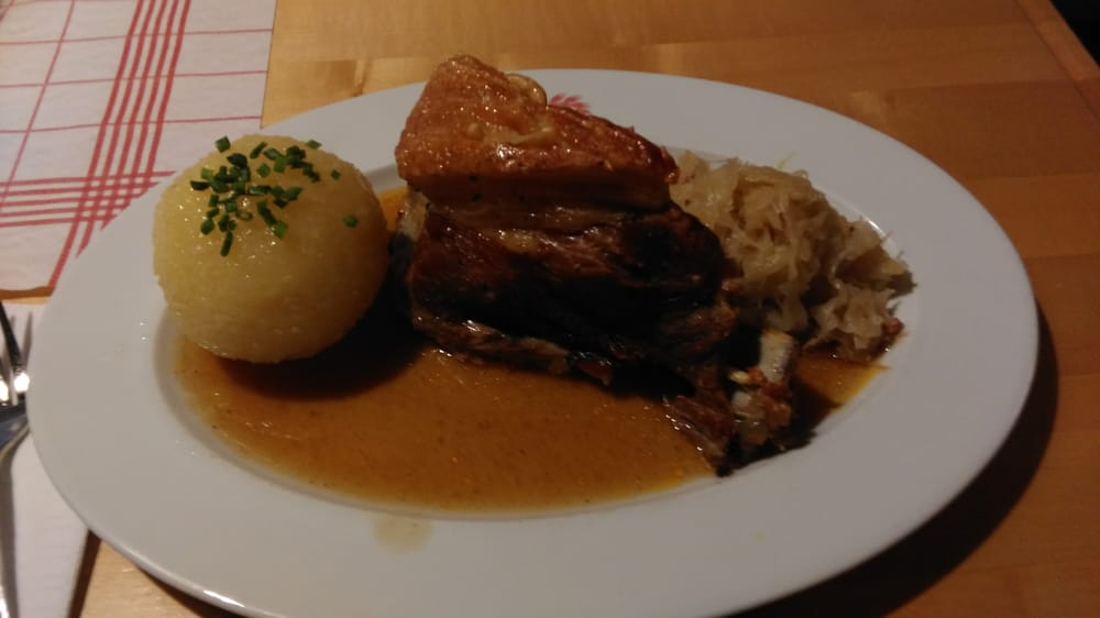 The restaurants special... Schäuferle. You have tontry this one. - Yelp
