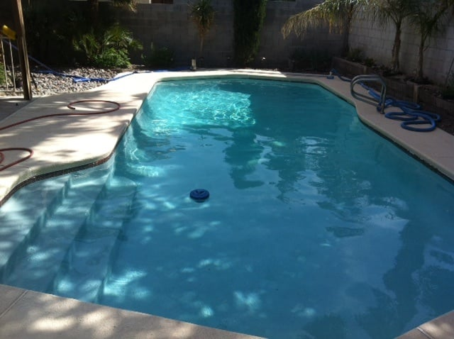 Acid Wash Pool Service : Pool after acid wash cleaning and regular service with