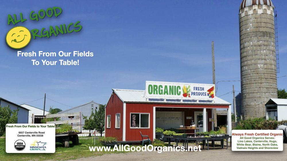 All Good Organics: 6657 Centerville Rd, Hugo, MN