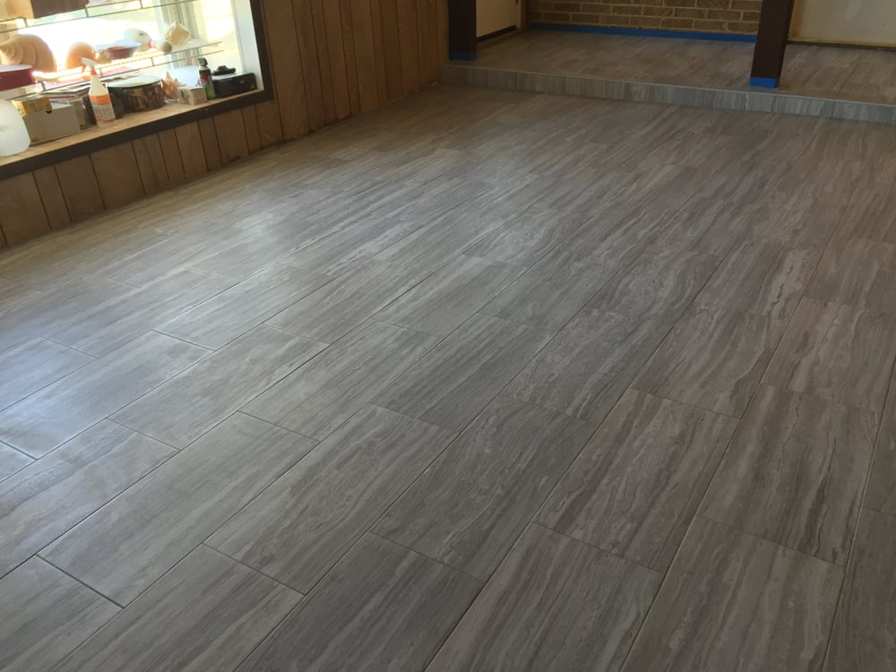 Electrifying Emser Style Terrane 12x24 Tile Color Gray Installed To
