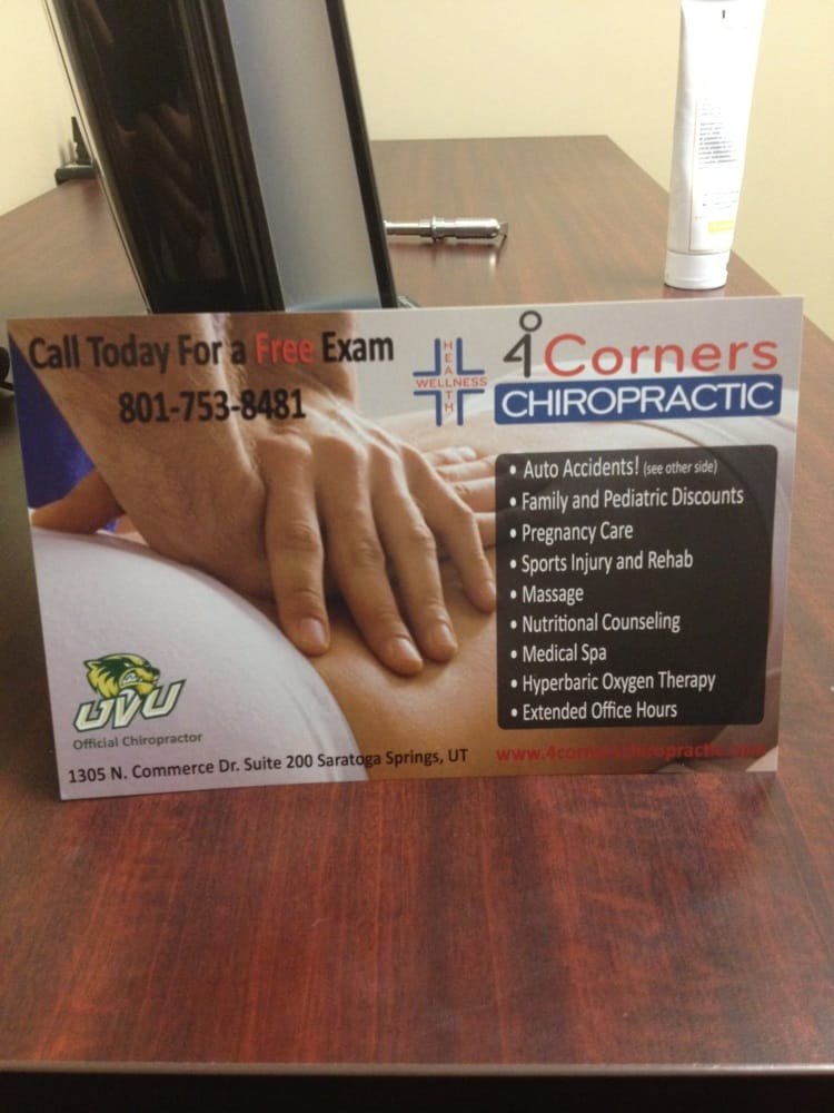 Kemp Chiropractic: 1416 N Redwood Rd, Saratoga Springs, UT