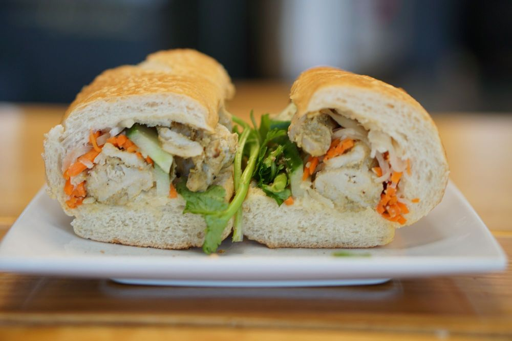 Food from Evelyn's Coffee & Banh Mi