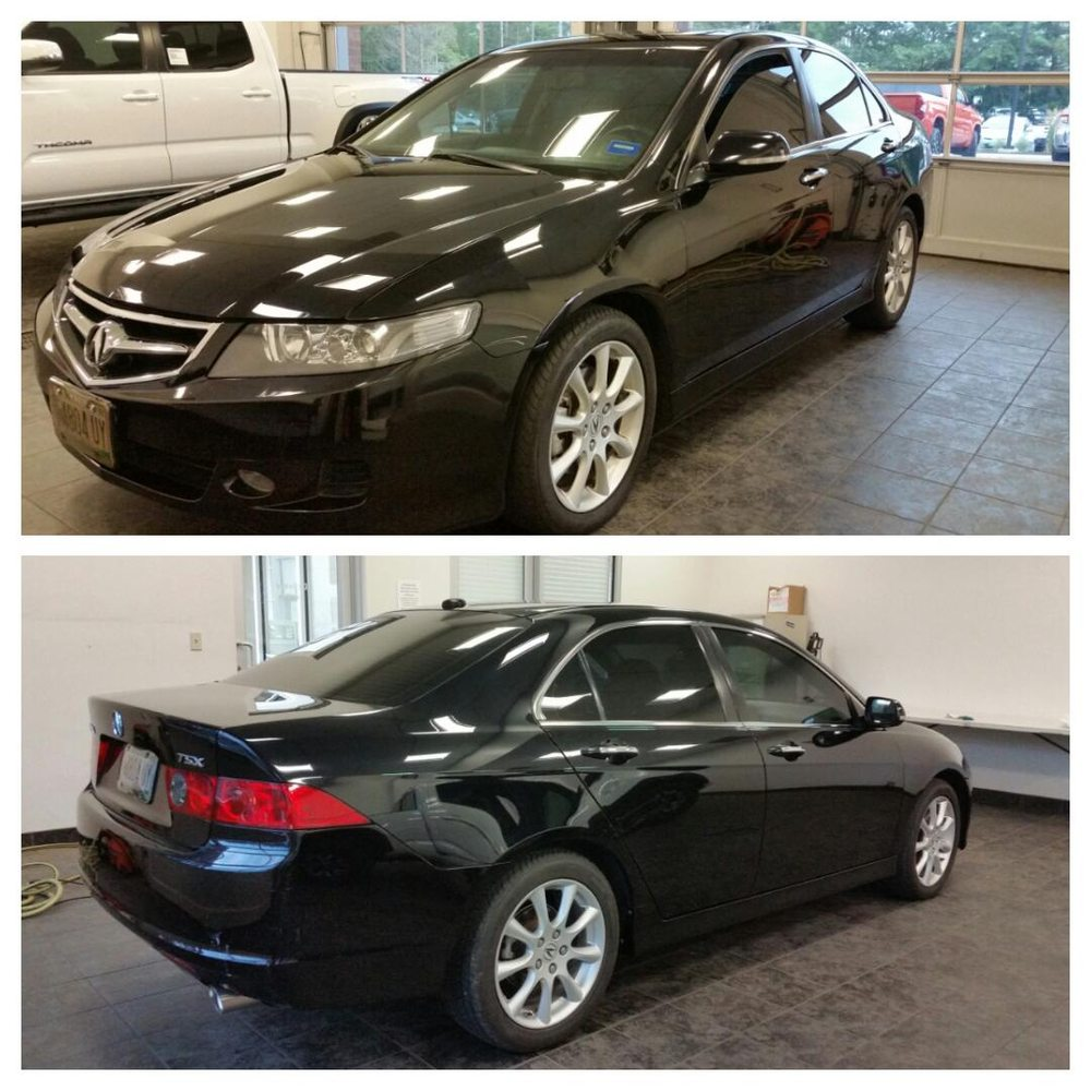 2008 Acura TSX With 5/35% Window Tint.