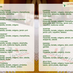 Bodega bella italia cucina spagnola paseo maritimo 23 for Bella j cucina