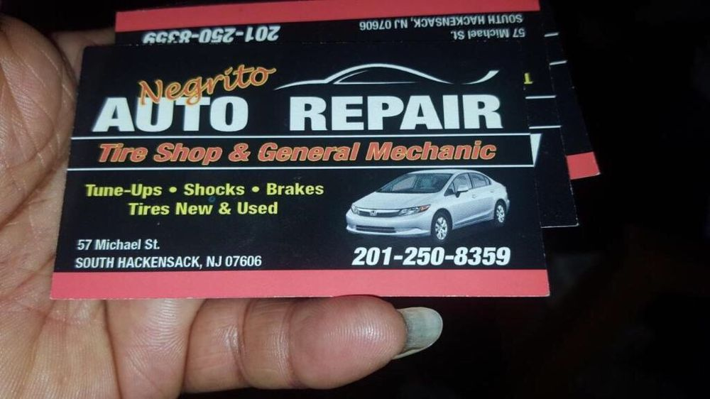 Business card yelp photo of negrito auto repair south hackensack nj united states business card reheart Images
