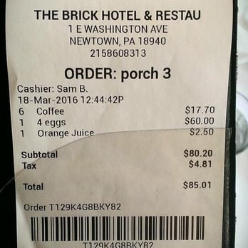 Photo Of The Brick Restaurant Newtown Pa United States Insanity Really
