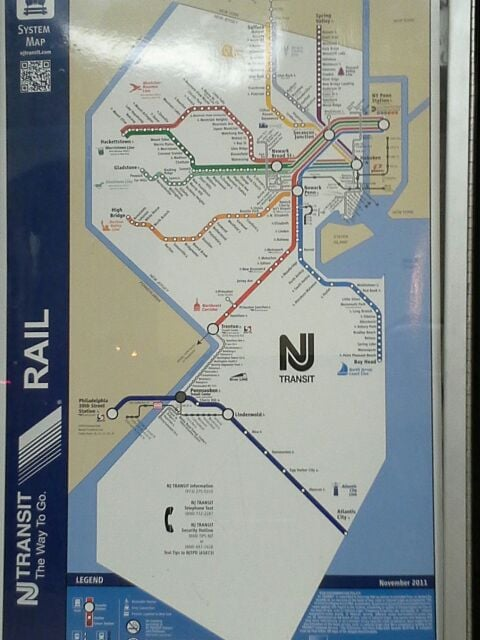 Takes you from South new Jersey to nyc  Leave the car and parking