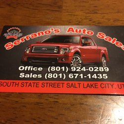 Car Dealerships In Utah >> Serrano S Auto Sales Car Dealers 830 S State St