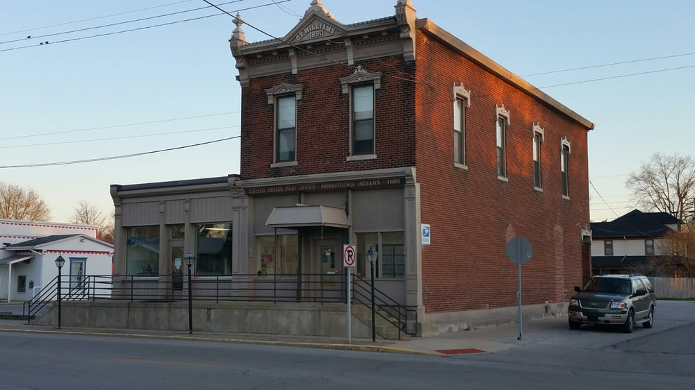 US Post Office: 105 E Main St, Morristown, IN