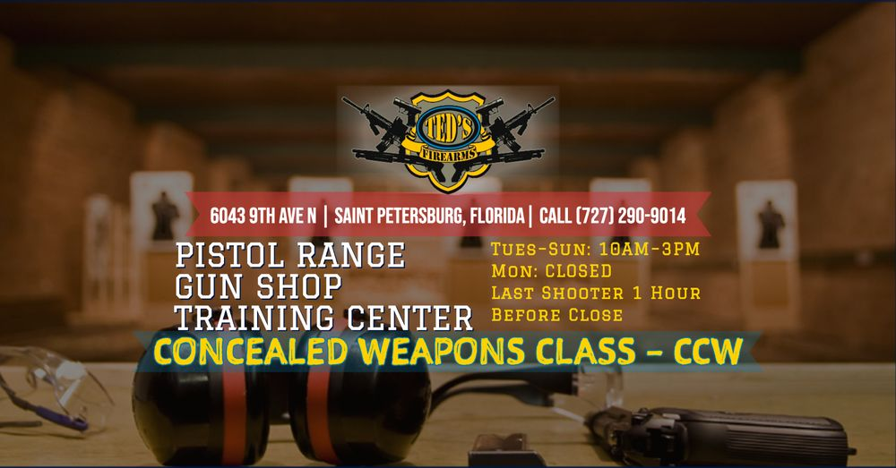 Ted's Firearms & St Pete Police Supply: 6043 9th Ave N, Saint Petersburg, FL