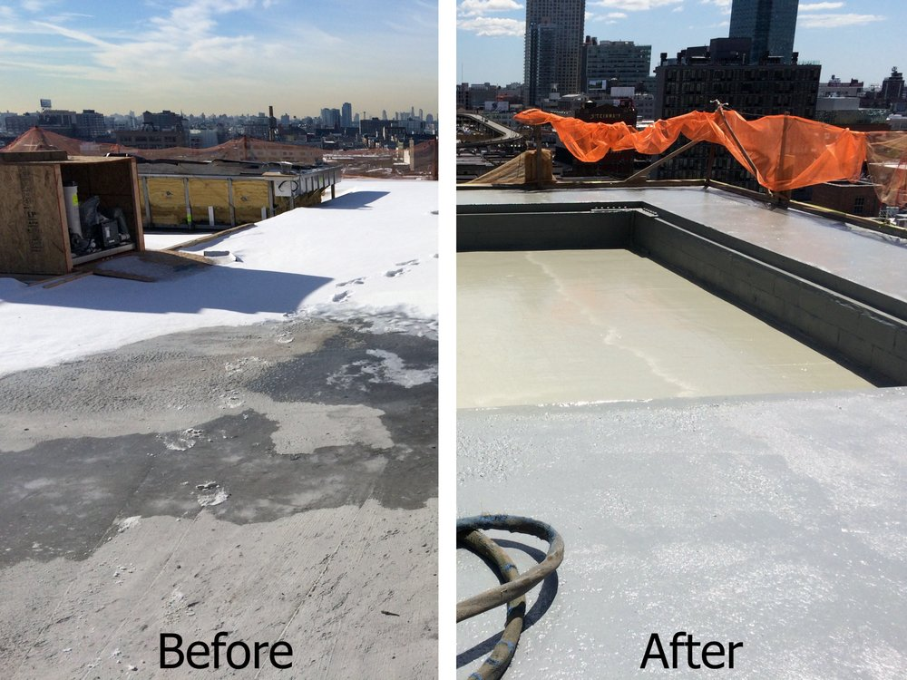 Polyurea Waterproof Coating Ravel Hotel Roof Top Swimming Pool Long Island City Ny Yelp