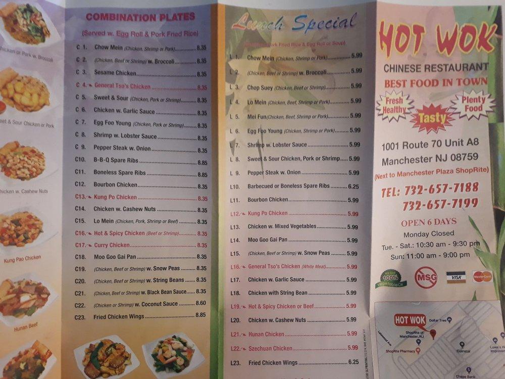 Hot Wok: 1017 NJ-70, Manchester T, NJ