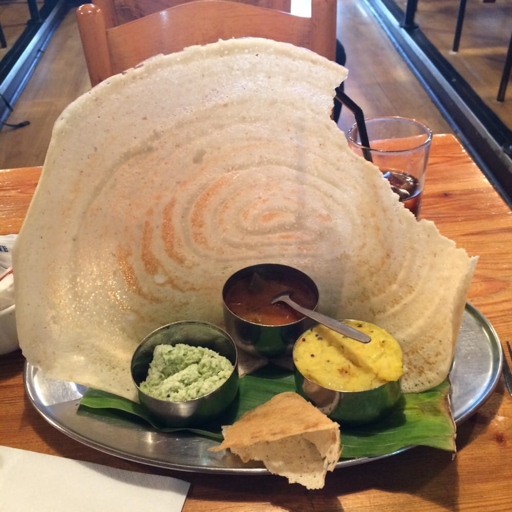 paper dosa See 19 photos from 87 visitors about dahi vada, chili, and soup i came here with a large group and we were able to try almost everything on the.