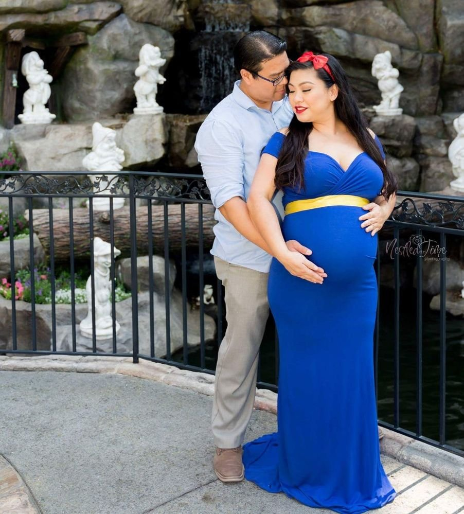 Snow White Inspired Maternity Session Gown Rental Accessories