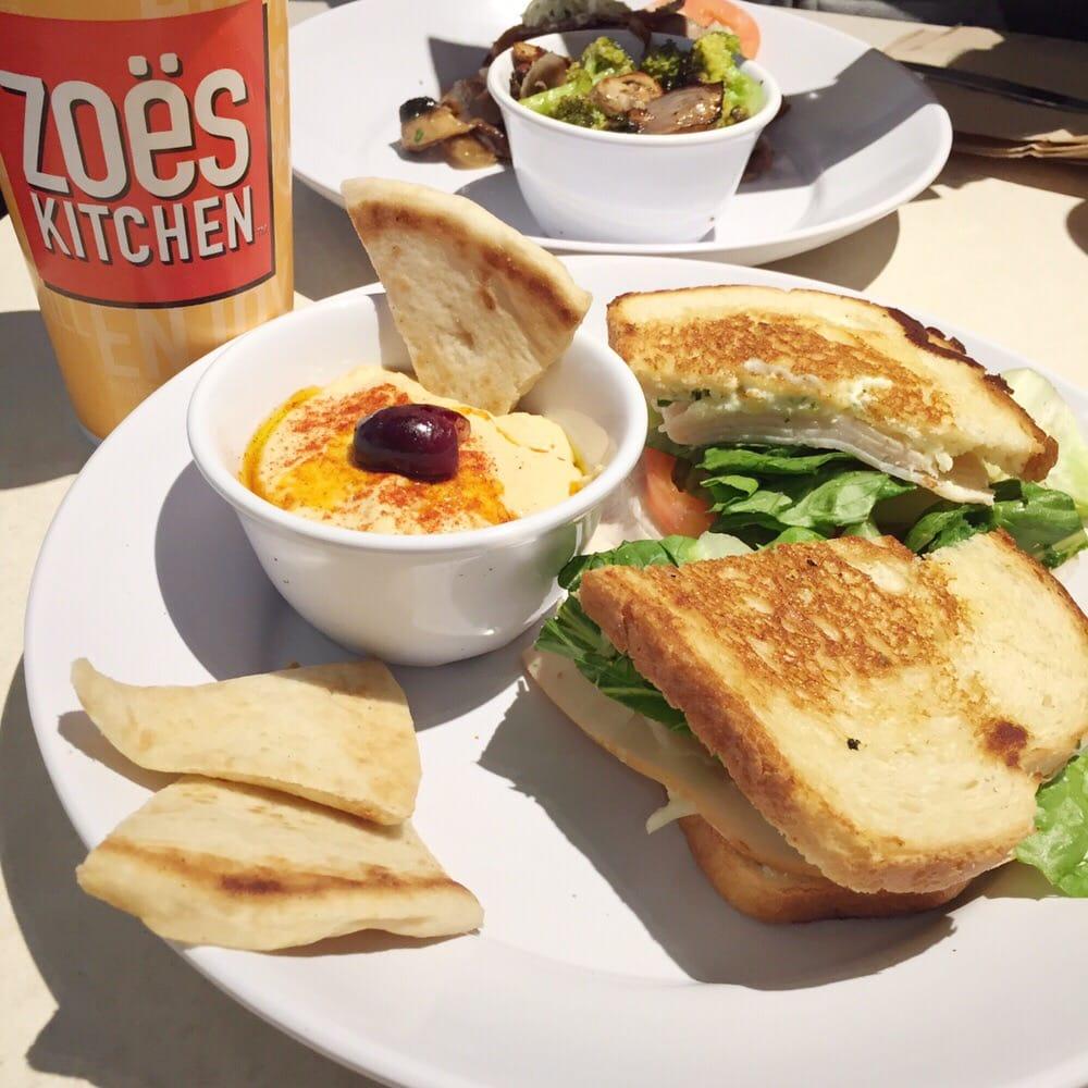 Zoes Kitchen Turkey Stack Hummus Trio  Yelp