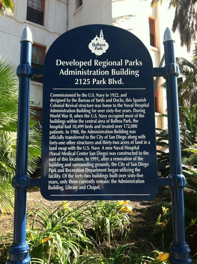 Balboa Park Administration Building: 2125 Park Blvd, San Diego, CA