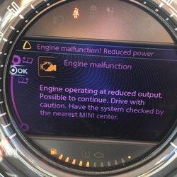 Mini Cooper Engine Malfunction Reduced Power