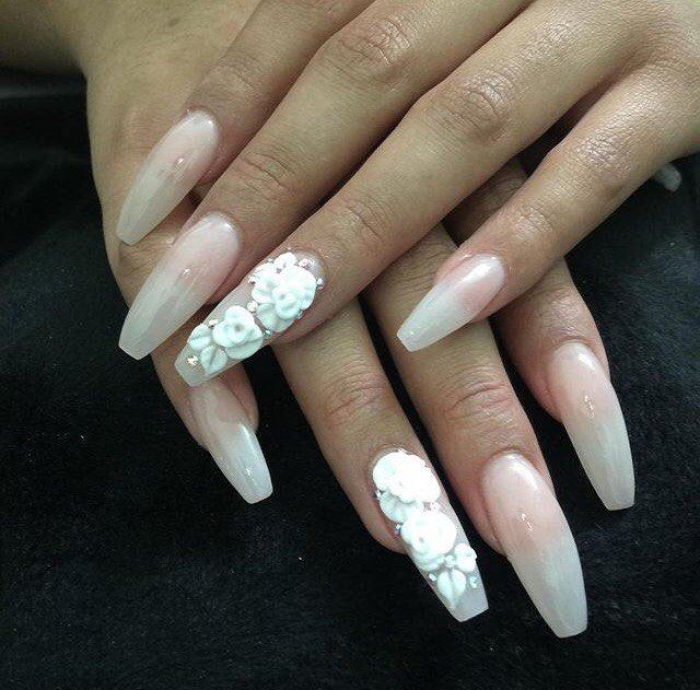 I left with these gorgeous ombre nails complimented by designs. - Yelp