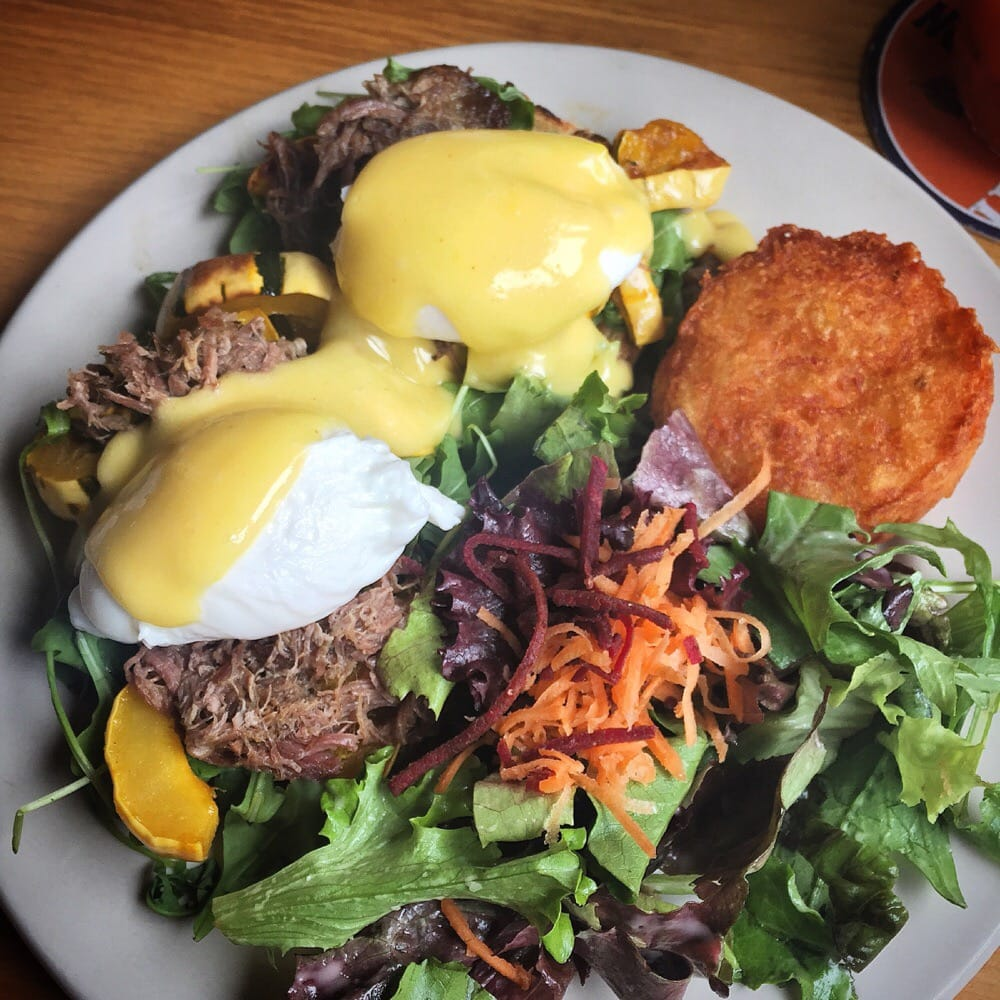 Braised beef eggs Benny Yelp