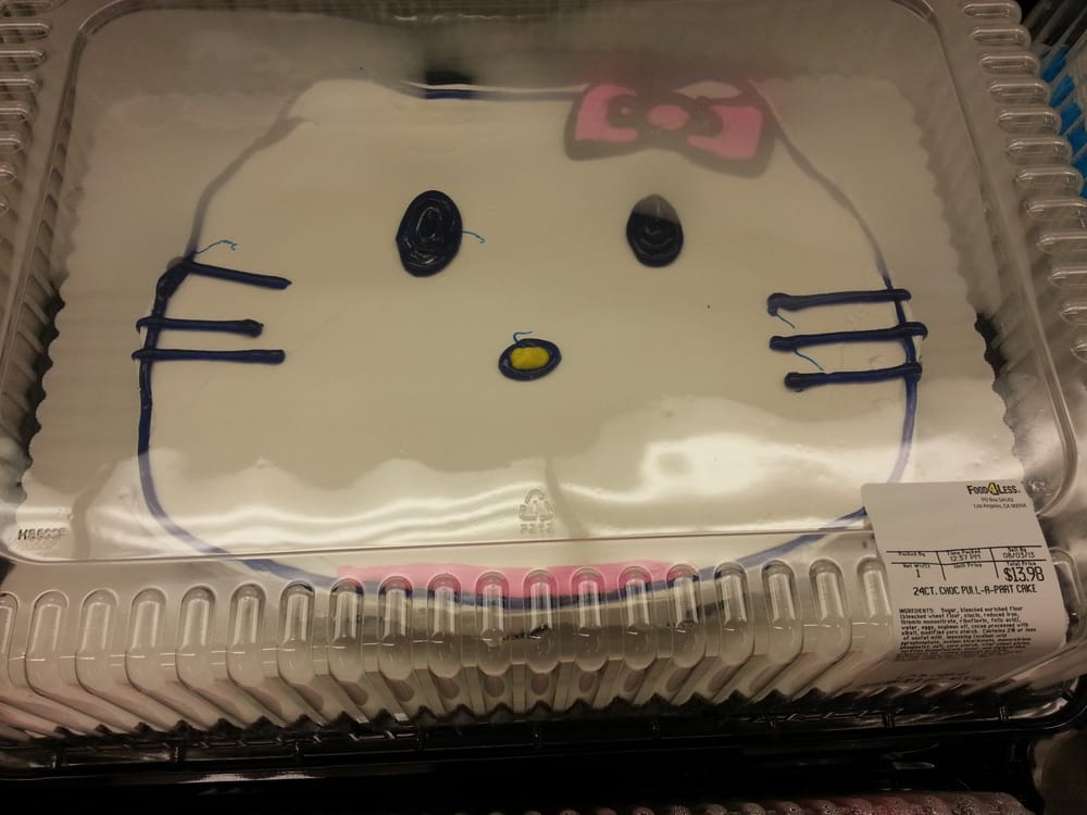Image result for ugly hello kitty birthday cake