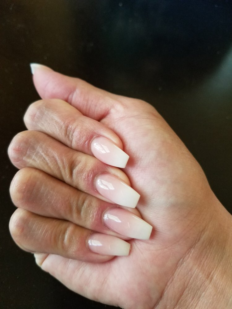 Gorgeous French ombre coffin nails by Kevin! - Yelp