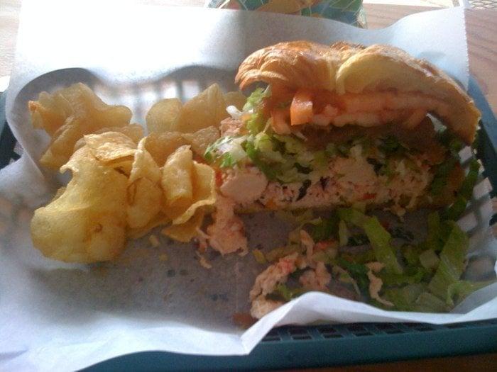 Lobster salad sandwich yelp for Fish market maui