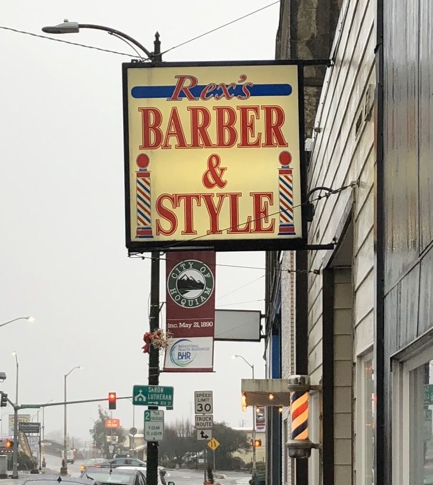 Rex's Barber & Style: 714 Simpson Ave, Hoquiam, WA