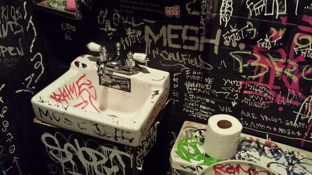 Photo of Clockwork Bar - New York, NY, United States. The restroom. How could you not love this place!