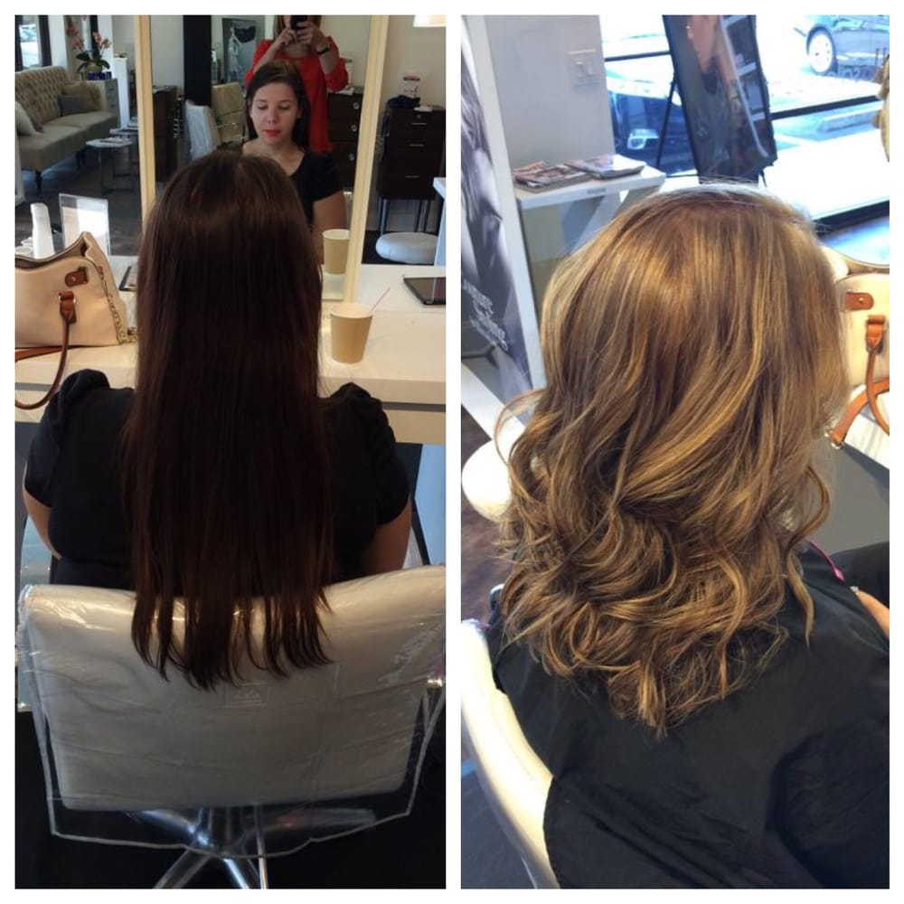 Before And After Cut And Full Head Of Highlights On Previously Died