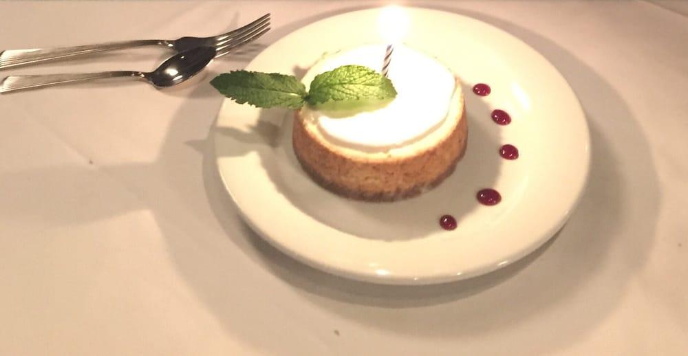 Complimentary Birthday Cheesecake Yelp