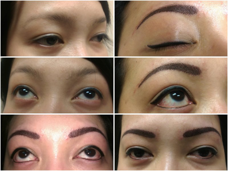 Eyeliner And Brow Strokes Microblading Asian Yelp