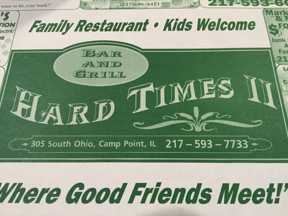 Hard Times II Bar & Grill: 305 S Ohio St, Camp Point, IL
