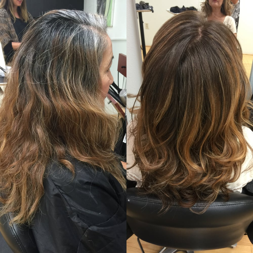 Suggestions Of Hair By Elegant Best Color To Cover Gray Roots Plus 30 Balayage Ideas With Blonde Brown And Caramel