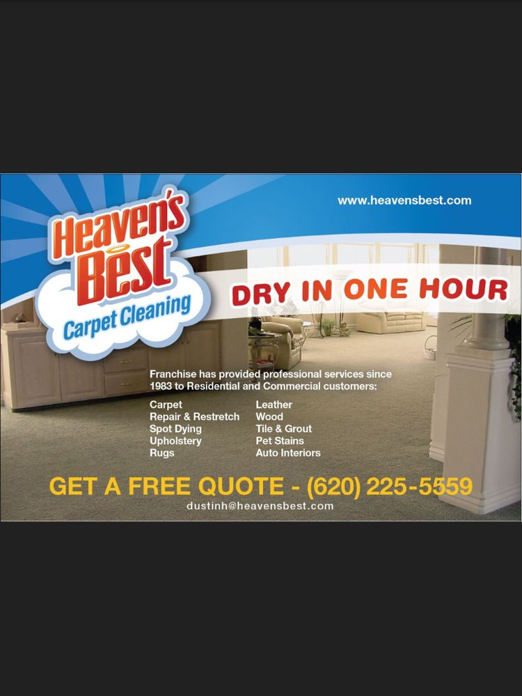Heaven's Best Carpet Cleaning Dodge City: 1009 Ragan Rd, Dodge City, KS