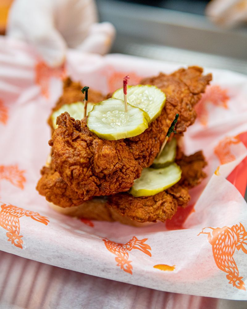 Food from Cluck & Blaze
