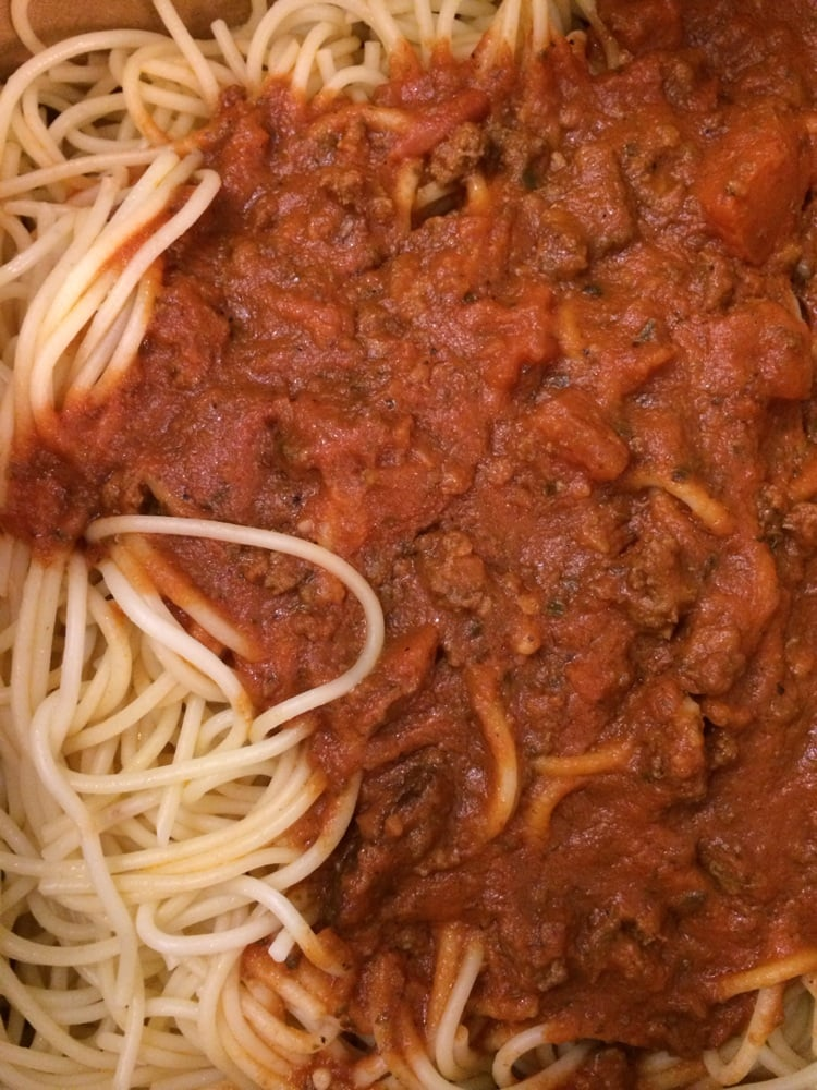 Angel Hair Pasta With Meat Sauce Yum Yelp