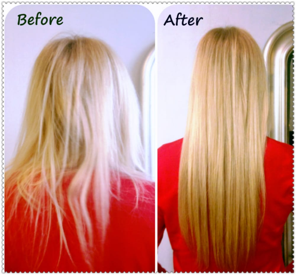 Once damaged hair is repaired and extended with real human hair photo of chicago hair extensions salon chicago il united states once damaged pmusecretfo Image collections