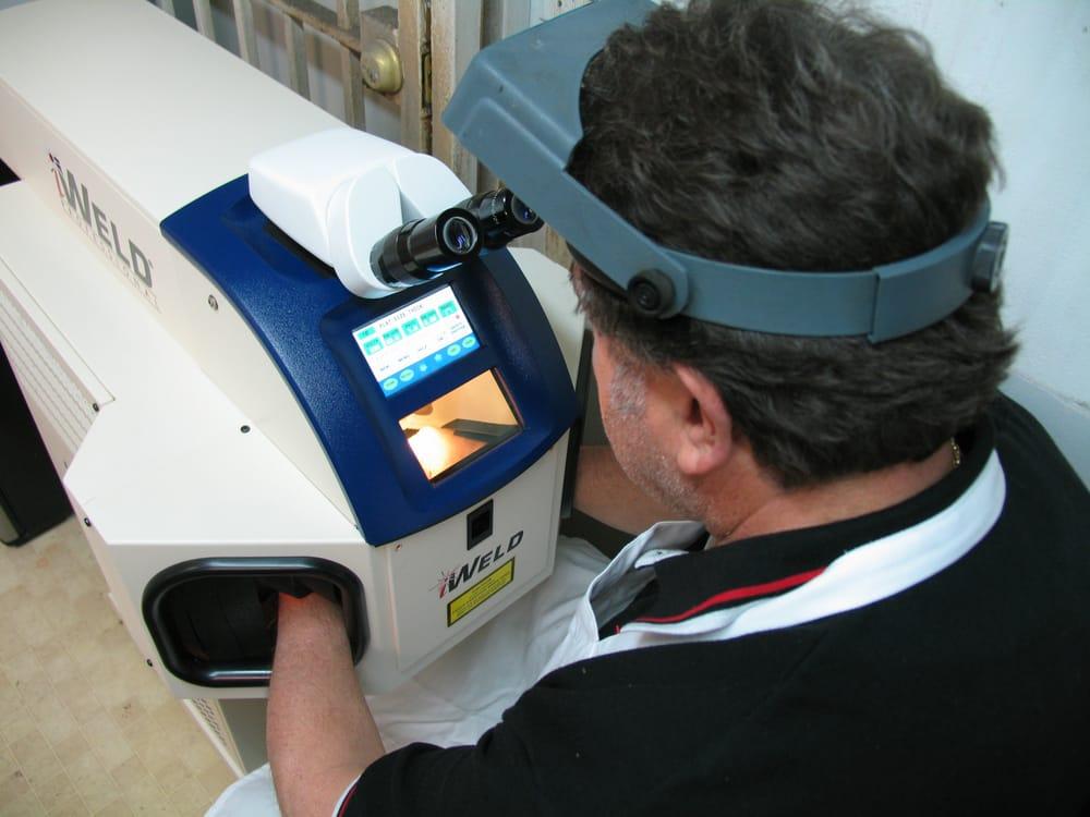 Laser Soldering On The Premises We Repair Platinum White
