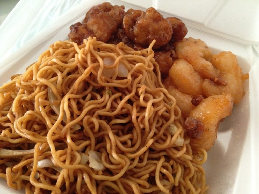 chow mein, honey walnut shrimp and orange chicken - yelp