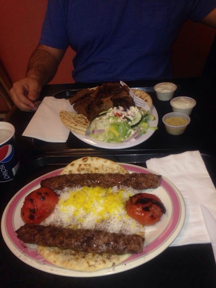 House kabob plate and gyro plate yelp for Good greek moving and storage