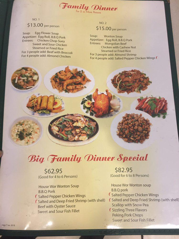 Menu Mandarin Chinese Restaurant Chula Vista