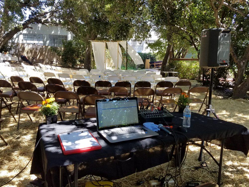 7 2 17 Dj Rockalot Wedding Ceremony Setup Out Back Yelp