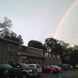 Photo Of Sunrise Inn Mondovi Wi United States Rainbow At