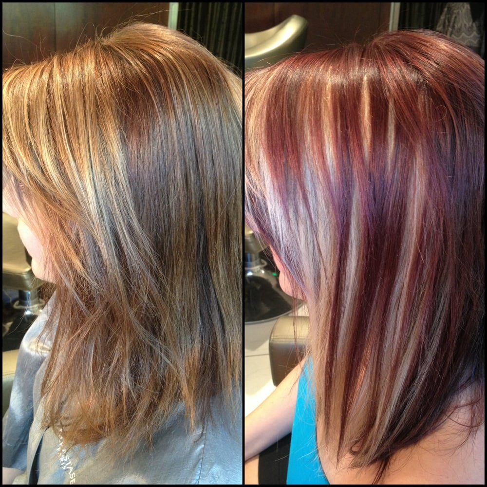 Amazing peekaboo highlights and color done by kelly at the for 2 blond salon reviews