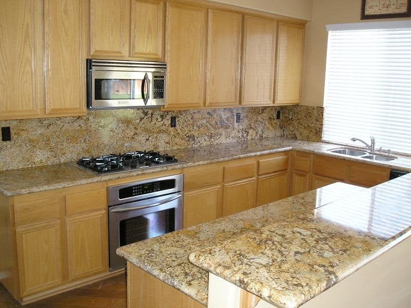 Colonial gold granite countertops yelp for Granite countertop support requirements