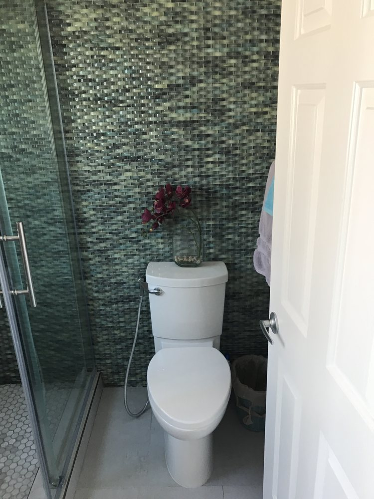 first bathroom tile work and toilet - Yelp